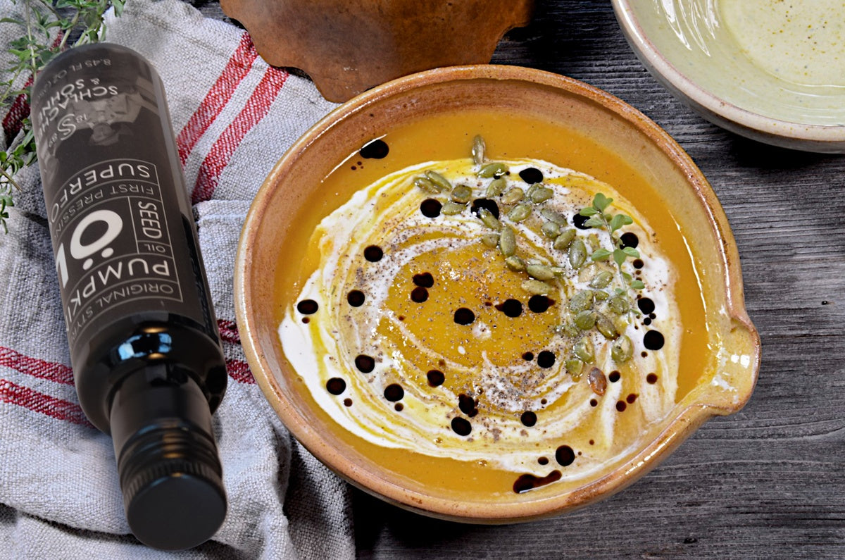 Recipe: Butternut Squash Soup with Pumpkin Seed Oil
