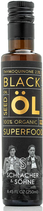Schlacher & Söhne MILD Taste Organic Black Seed Oil: 100% Pure, Cold Pressed, (8.4 FL OZ)