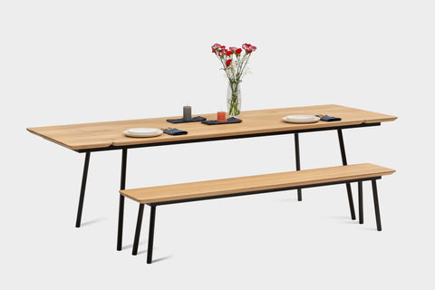 Extendable dining tables are a great option.
