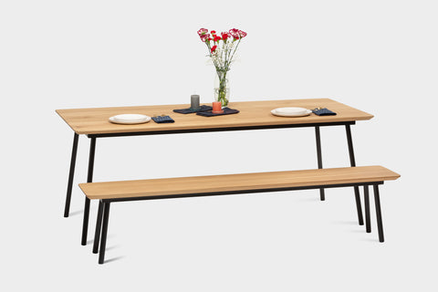 Benches are a great addition to a dining table.