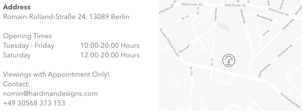 hardman design map and opening times