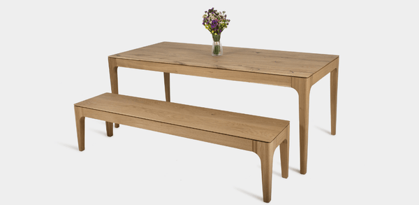 Carolina Oak Dining Table and Bench Set.