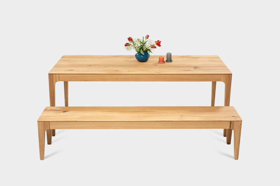 Handmade Solid Wood Table and Bench Set | CAROLINA Set