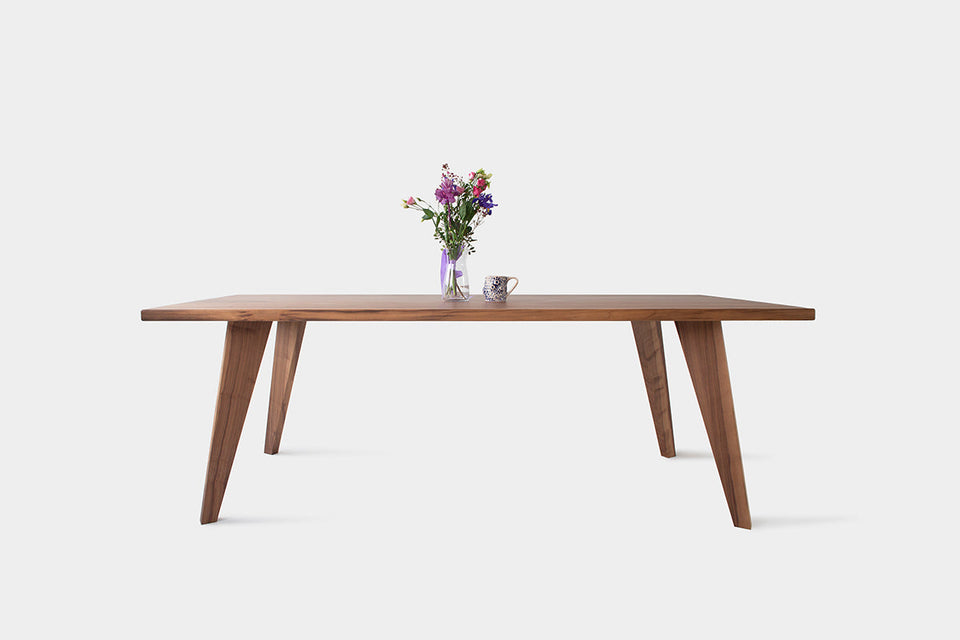Handmade Table And Extendable Dining Table In Oak Or Walnut | AMBER Table