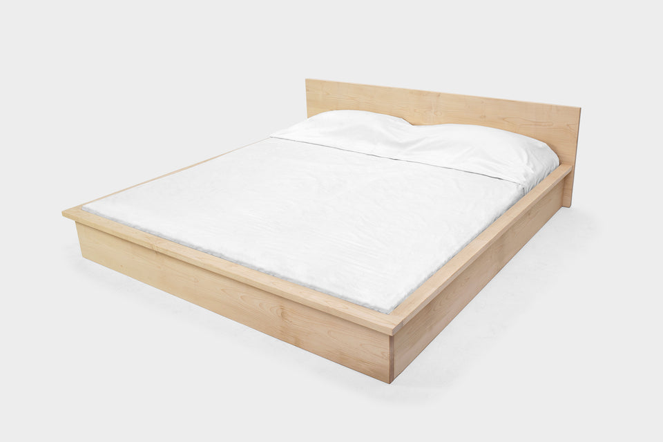 Minimal Bed Frame | Handmade from Maple | CASSIE