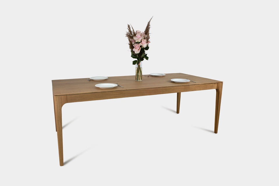 Bespoke Oak Dining Table | CAROLINA Dining Table-Dining Table-Liam Hardman-Hardman Design
