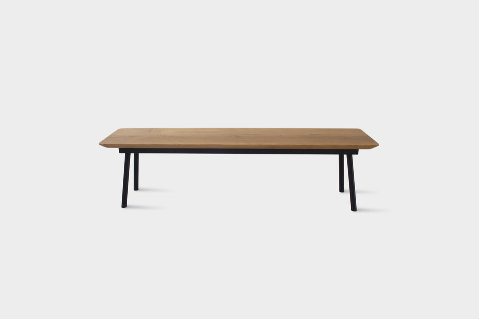 Mid Century Modern Oak Bench on Metal Legs | MARTA Bench-Bench-Liam Hardman-Hardman Design