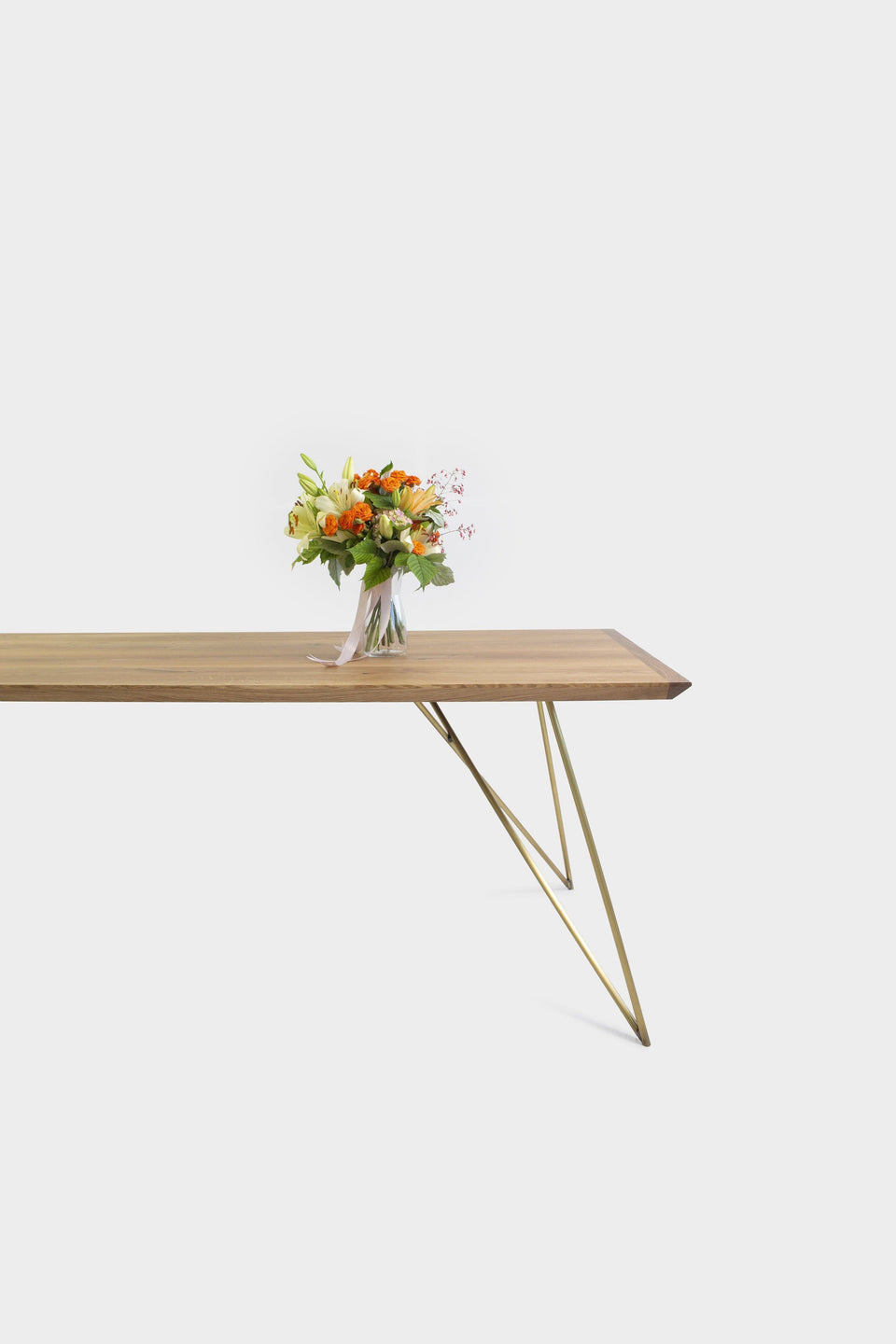 Mid-Century Modern Oak Dining Table | EVELIE-Dining Table-Liam Hardman-Hardman Design
