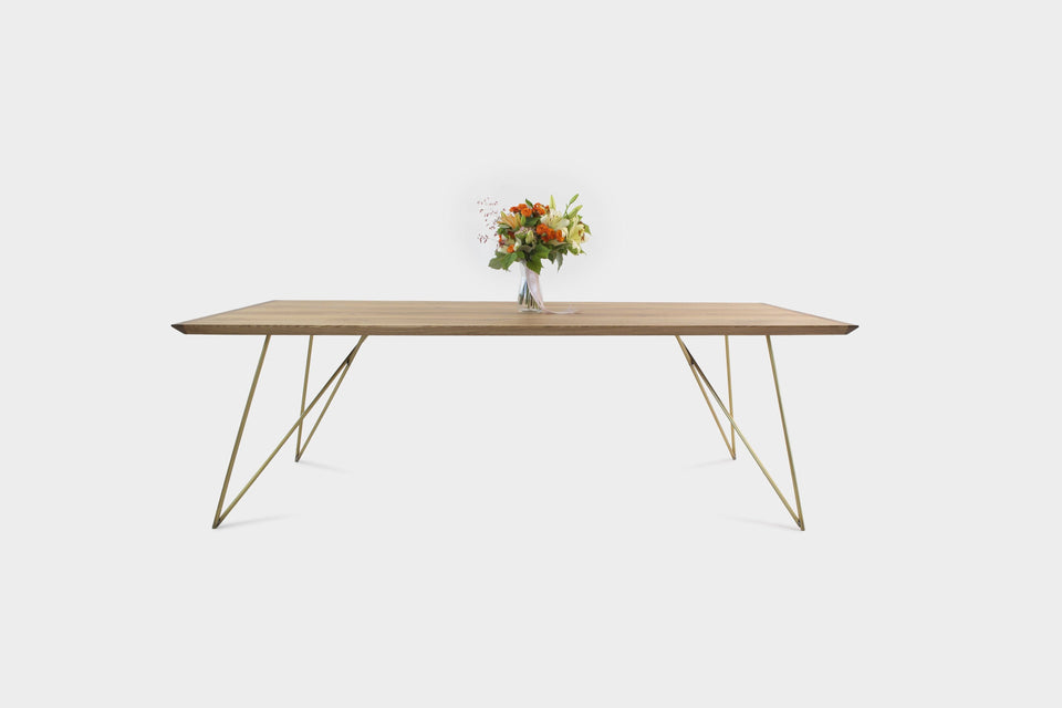 Mid-Century Modern Oak Dining Table | EVELIE-Hardman Design