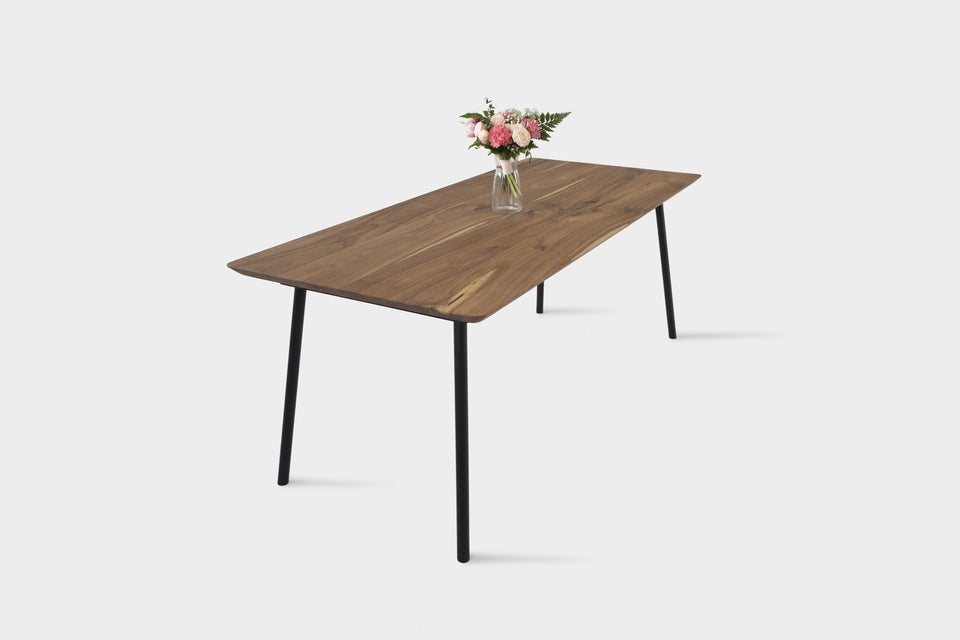 Mid Century Modern Walnut Dining Table | MARTA Dining Table-Dining Table-Hardman Design Furniture-180 cm x 80 cm-Matt Oil-Hardman Design