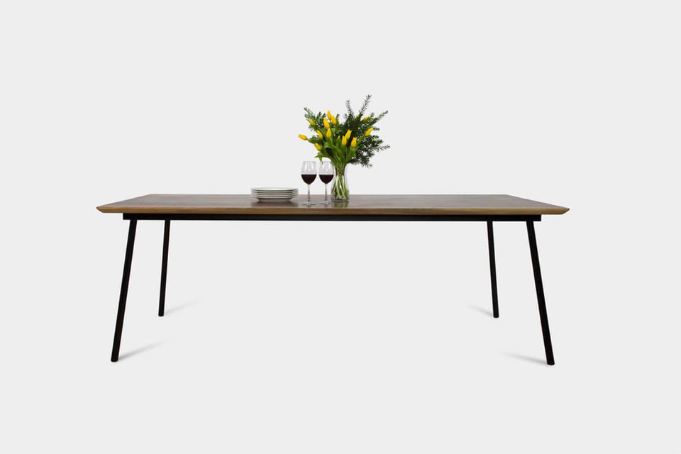Mid Century Modern Walnut Dining Table | MARTA Dining Table-Dining Table-Hardman Design Furniture-220 cm x 100 cm-Matt Oil-Hardman Design