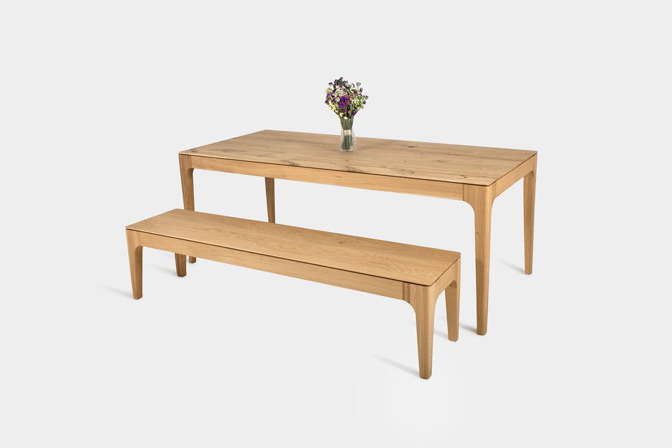 Handmade Solid Wood Table and Bench Set | CAROLINA Set-Hardman Design