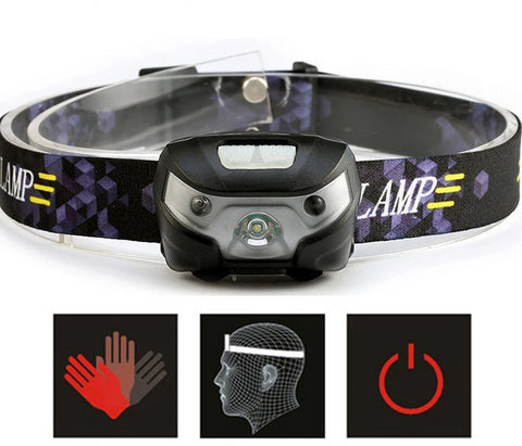 Body Motion Sensor Rechargeable LED Headlamp