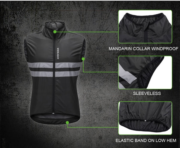High Visibility Light-Weight Windproof Running Vest