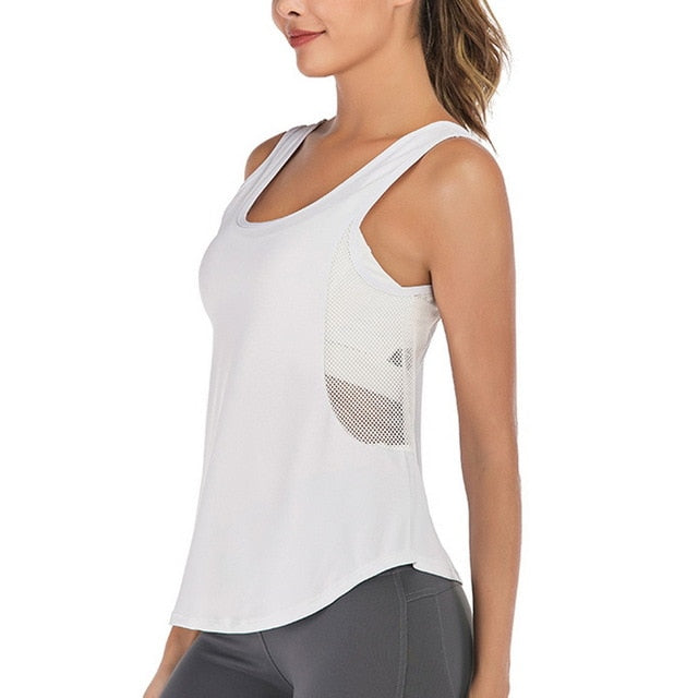 Light and Breezy Mesh Singlet top