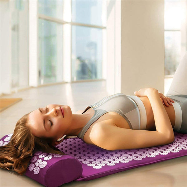 Massage Mat And Pillow Set Relieve Back and Body Pain