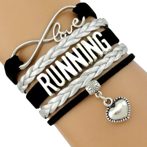 Charm Leather Running Bracelets for Women