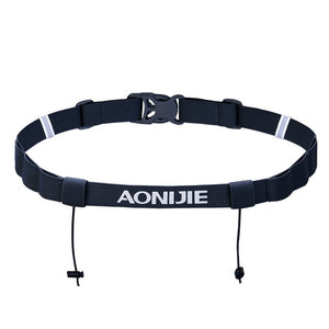 Unisex Race Number Belt with 6 Gel Holder Loops