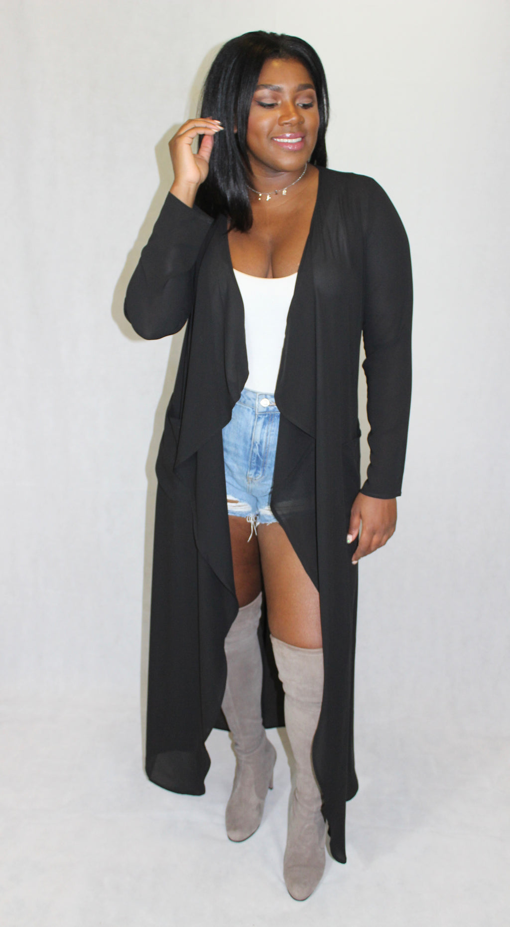 Glam Black Duster