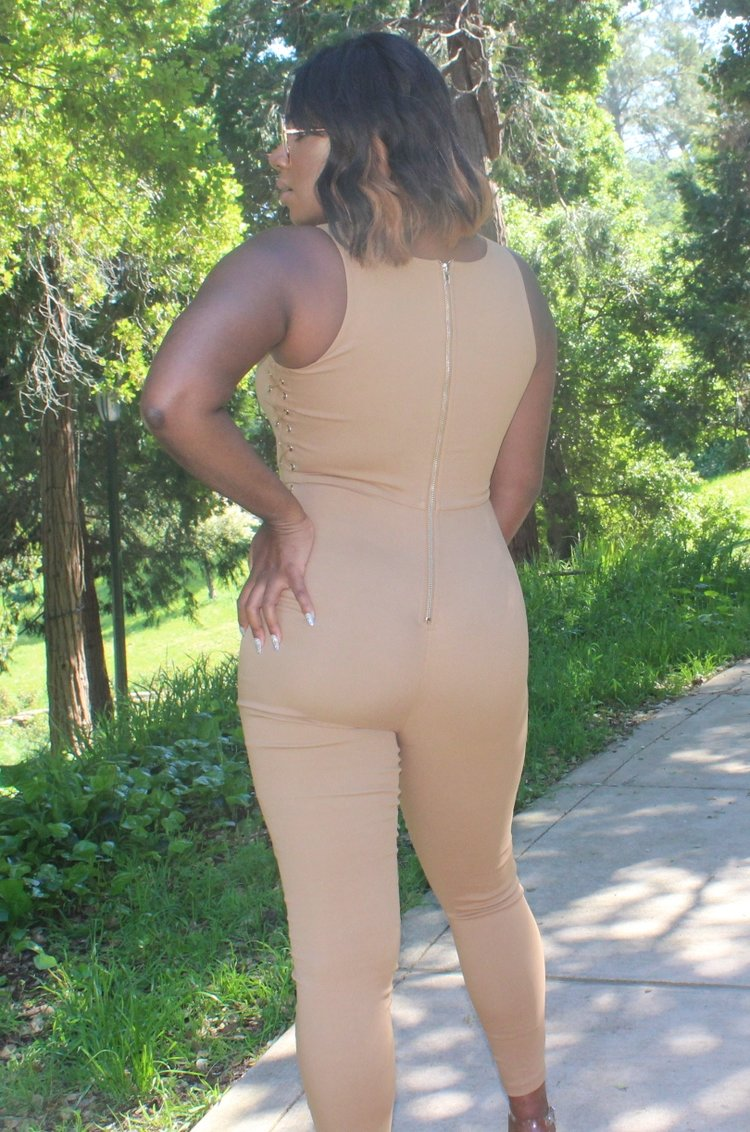Curves & Laces Jumpsuit