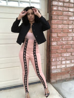Making Me Blush Lace Down Jumpsuit