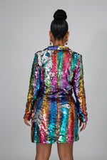 Make it Rainbow Sequin Blazer Dress