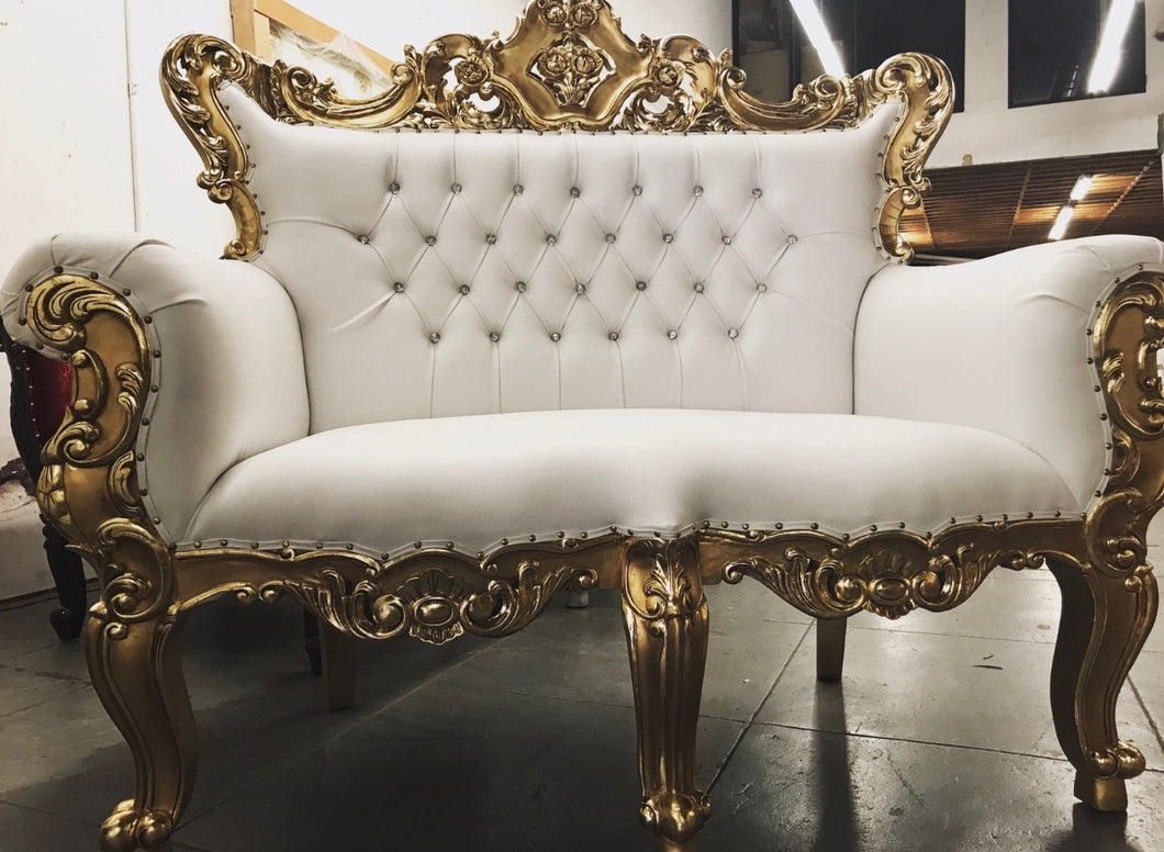 Luxury Gold Trim Sofa