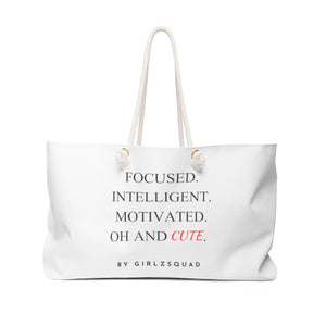 """ Focused & Cute"" handbag"