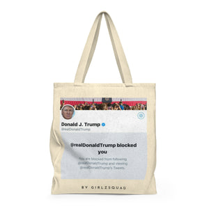""" Blocked by Trump"" Large Tote Bag"