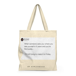 """ Where you see yourself ""Large Tote Bag"