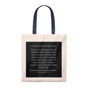""" Angelina Jolie Speech"" Tote Bag"