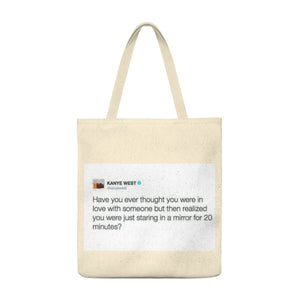 """ Kanye West""  Man Large Tote Bag"