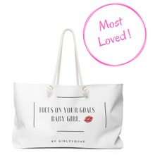 """ Focus on your goals "" handbag"