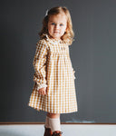 SUNFLOWER GINGHAM DRESS - Ren & Rouge