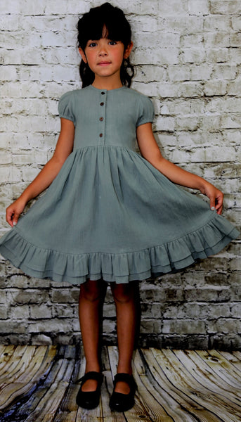 RUFFLED DRESS - Ren & Rouge