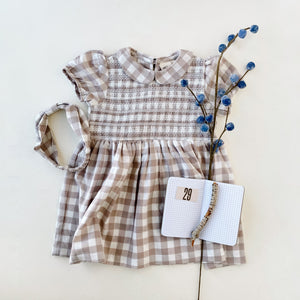 gingham dress - Ren & Rouge