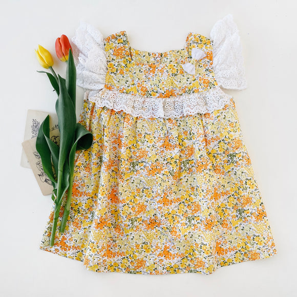 floral ruffle dress - Ren & Rouge