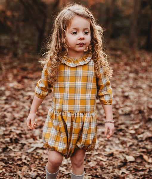 GOLD PLAID ROMPER - Ren & Rouge