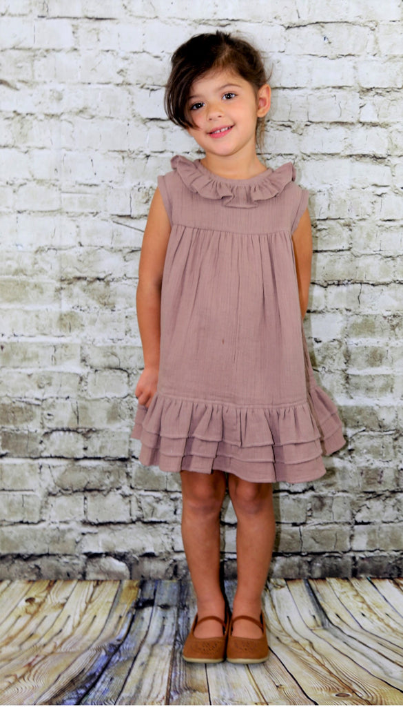 RUFFLE SLEEVELESS DRESS - Ren & Rouge