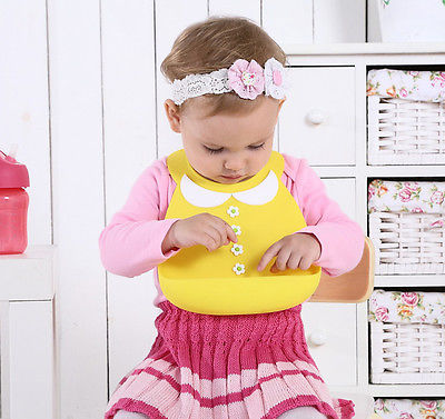 Adorably Cute Floral and Tie Waterproof Baby Bibs