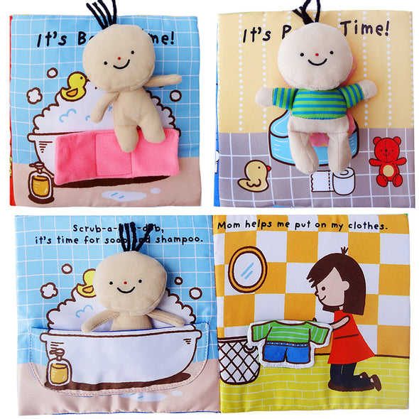 Interactive Learning, Early Development of Bath and/or Potty Soft Baby Activity Books