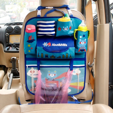 Colorful Family Car Backseat Animal Prints Baby Organizer – Feet Mats