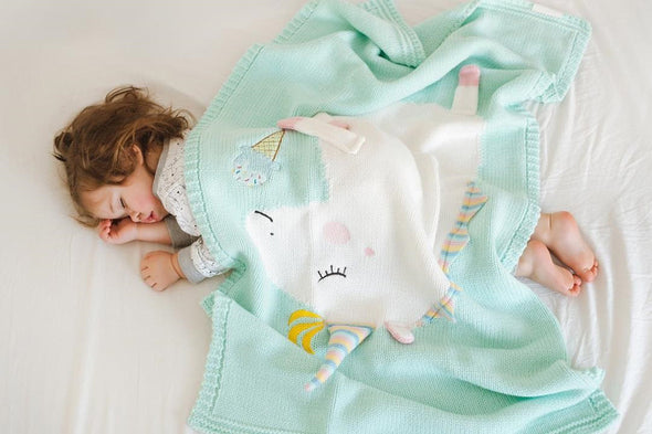 Adorable Warm Knitted Unicorn Extra Soft Baby Blankets