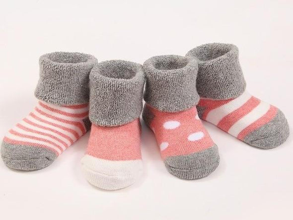 4pairs Soft, Warm, Comfortable Winter Baby and Toddler Socks (0-3 Years)
