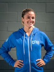 CFNE Unisex Zip Hoodie - Heather Blue