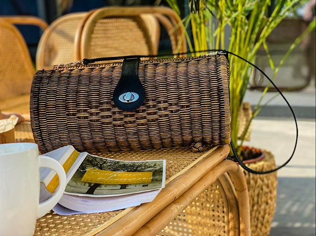 THE LONGITUDINAL RATTAN HANDBAG BOHO - Monnarita - Handmade products
