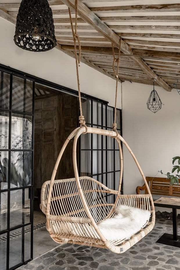 HANGING DOUBLE RATTAN CHAIR HENRY - Monnarita - Handmade products