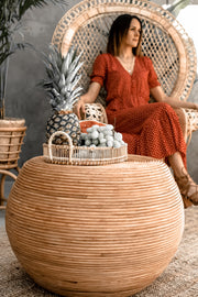 ROUND RATTAN TABLE TEGAL - Monnarita - Handmade products