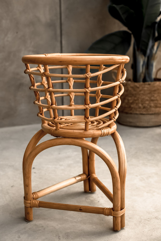 RATTAN PLANT STAND - Monnarita - Handmade products