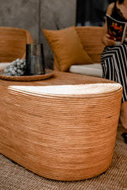 OVAL RATTAN TABLE TEGAL - Monnarita - Handmade products